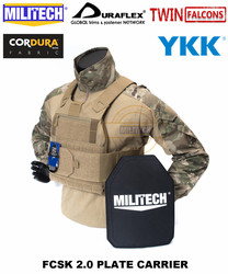 MILITECH TW FCSK 2.0 Coyote Brown CB Advanced Slickster CQC Ferro Plate Carrier Military Combat Tactical Vest Body Armor Carrier