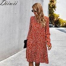 Diiwii Vintage Floral Print Skirt Women's Bohemian Style Lon