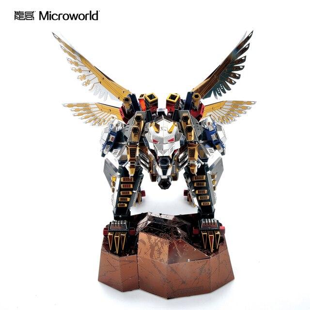 Microworld 3D מודלים נמר מעופף דגם DIY לייזר חיתוך פאזל לוחם דגם 3D מתכת פאזל ילדים צעצועים למבוגרים מתנות