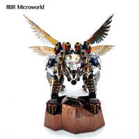 Microworld 3D Models Flying Tiger model DIY laser cutting Jigsaw puzzle fighter model 3D metal Puzzle kids Toys for adult gifts