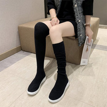 Socks Shoes Over-The-Knee-Boots Stretch Heightened High-Stockings Summer Women's FD-32