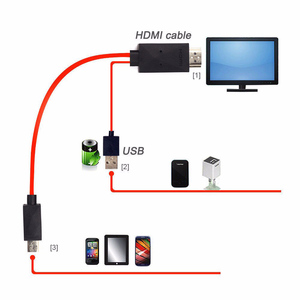 Image 4 - 5 Pin Micro USB to HDMI Cable For MHL Output Audio Adapter HDTV Adaptor 1080P Full HD for Samsung Galaxy S2 i9100 i9220 i9250