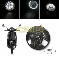1 Set LED Motorcycle Scooter Headlight High Low Beam Front Light for Vespa Primavera 50 150 Daytime Running Head Lights Lamp