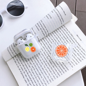 Image 5 - For Airpods 1 2 Transparent Soft Silicone Earphone Case For AirPods Cute Cartoon Fruit Avocado Peach Protective Cover Bluetooth