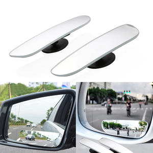 Blind-Spot-Mirror Reversing Car 2pcs Clear Curved Wide-Angle Convex Slim