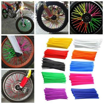 36Pcs/Pack Motorcycle Bike Wheel Spoke Wraps Rims Skin Cover Protector Decor 17cm x 1cm Decor DIY Car Accessories image
