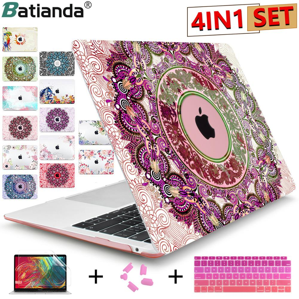 Crystal Case For Apple Macbook Air 13.3 11 Pro 13 12 15 Retina Laptop Print Cover 2018 New Touch Bar Keyboard Cover A1466 A1932