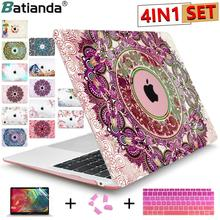 Crystal Case Voor Apple Macbook Air 13.3 11 Pro 13 12 15 Retina Laptop Print Cover 2018 Nieuwe Touch Bar toetsenbord Cover A1466 A1932