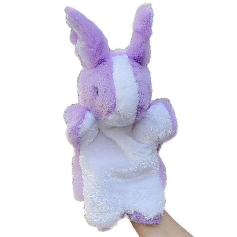 Cartoon Animal Doll Kids Glove Hand Puppet Rabbit Plush Bunny Finger Toys 8C