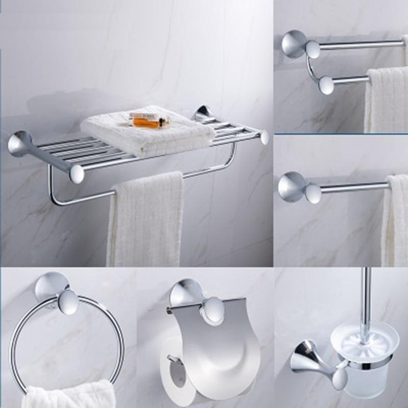 Acier inoxydable salle de bains accessoires Kit porte-serviettes porte-serviettes porte-rouleau vêtements crochet salle de bains stockage Rack miroir placage