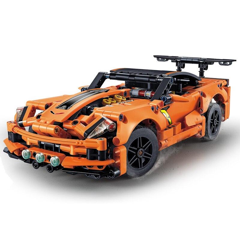Legoinglys Technic Chevrolet Corvette  ZR1 Building Blocks Kits Bricks Classic City Creator Model Kids Toys For Children Gift