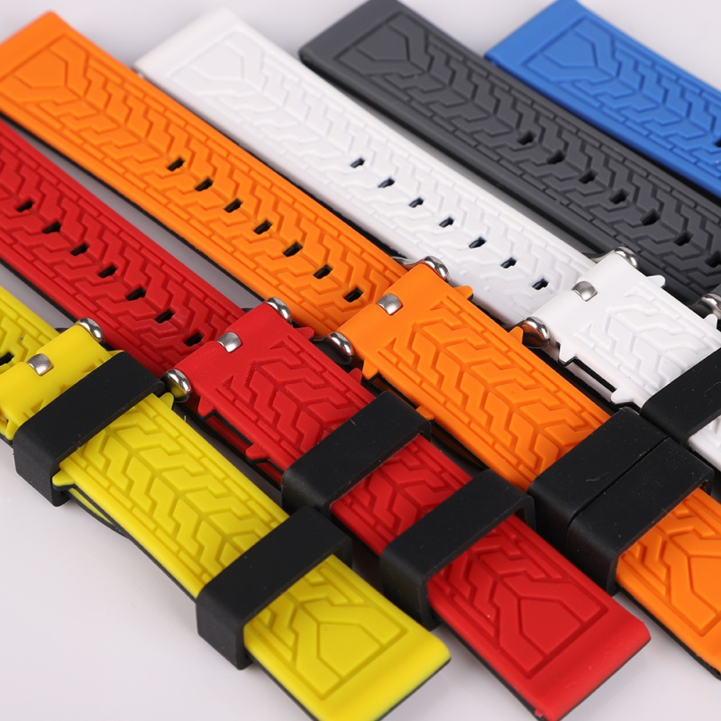 <font><b>20mm</b></font> 22mm 24mm 26mm Men Silicone <font><b>Watch</b></font> <font><b>Band</b></font> Sport Diver Waterproof Rubber Strap Replacement image