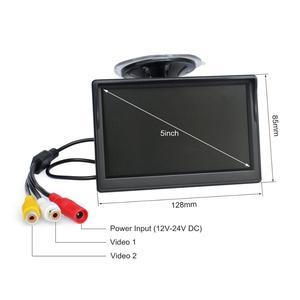 """Image 2 - DIYKIT 800x480 5 """"TFT LCD 디스플레이 HD 자동차 모니터 MPV SUV 말 트럭에 대 한 흡입 컵 및 무료 브래킷과 후면보기 모니터"""