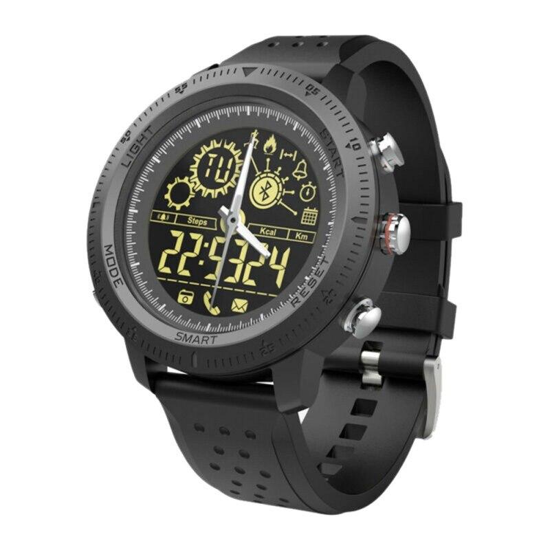 NX02 sport montre intelligente Fitness Tracker calories podomètre chronomètre appel SMS rappel boîtier en métal Smartwatch