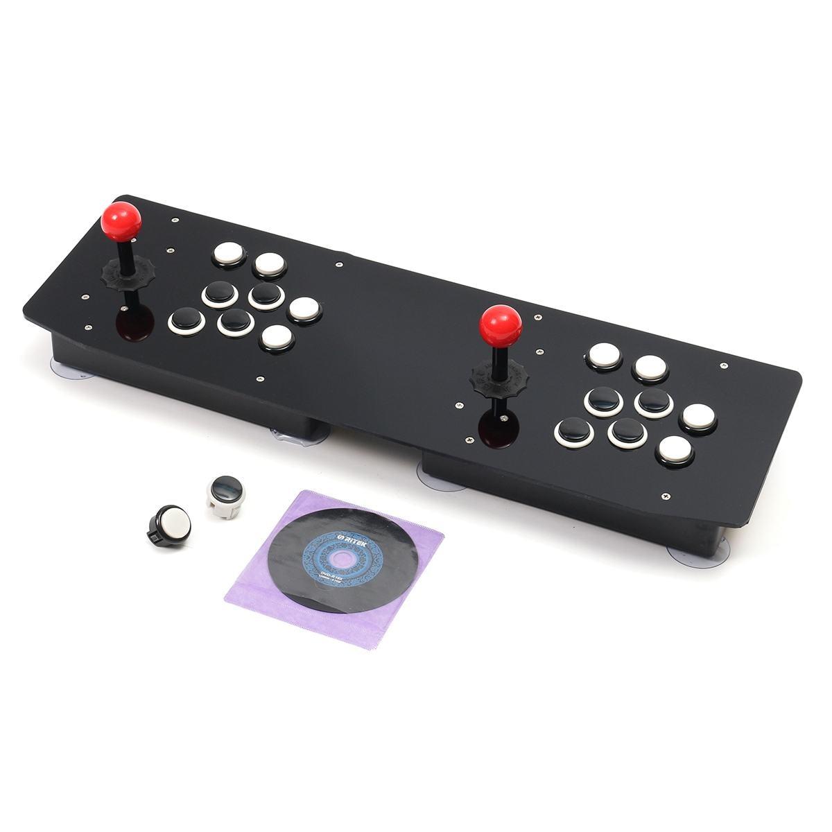Double bâton d'arcade jeu vidéo manette contrôleur Console PC USB 2 joueurs ordinateur Machine de jeu vidéo jeu accessoires de jeu - 6