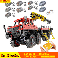 IN STOCK Technic 13146 MOC Articulated Logging Trucks Car Construction 8×8 Off road Lepining Model Building Blocks APP RC Toys