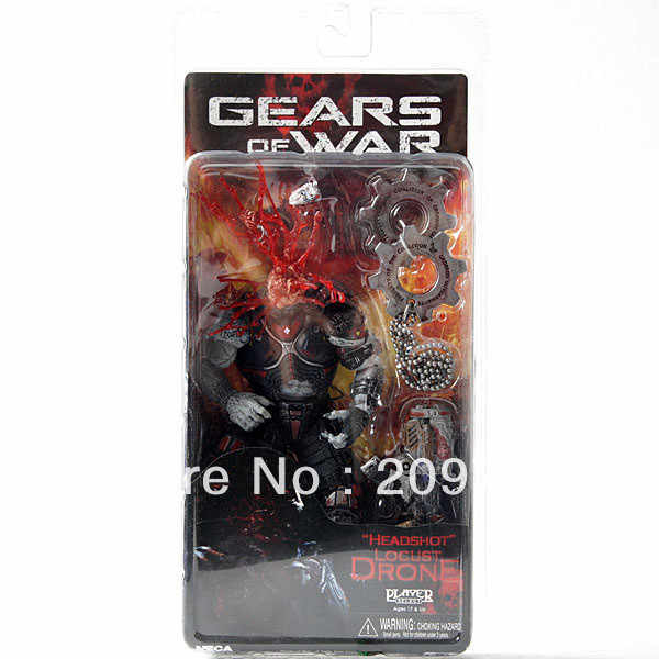 NECA Classic Game Gears cabeza Dron figura de acción juguetes colección de jugadores