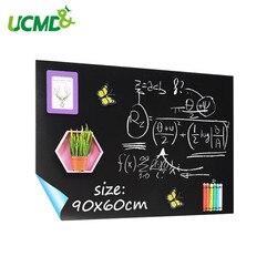 Magnetische Schoolbord Lakens 90x60cm zelfklevende Blackboard muur Sticker Hold Magneten Kids Gratiffi Paiting Leren Speelgoed geschenken
