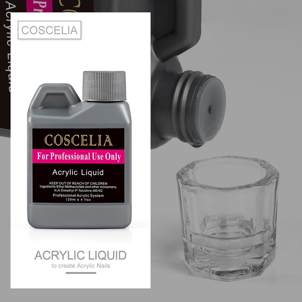Акриловая жидкая акриловая жидкость COSCELIA для маникюра, инструмент для салона, Маникюрный Инструмент для ногтевого дизайна, прозрачная крис...