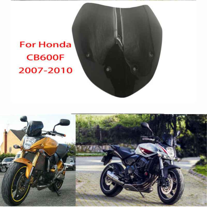 CB600F 07-10 Windshield WindScreen Front Wind Deflectors Screen shield for <font><b>Honda</b></font> <font><b>Hornet</b></font> <font><b>600</b></font> CB 600F 2007 2008 <font><b>2009</b></font> 2010 image
