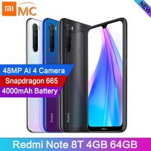 Globalny Xiaomi Redmi Note 8T 48MP Quad aparaty Smartphone 4GB RAM 64GB ROM Snapdragon 665 Octa Core 6 3 #8222 ekran FHD telefon komórkowy tanie tanio Nie odpinany Nowy Android Rozpoznawania linii papilarnych Do 150 godzin 4000 Szybkie ładowanie 3 0 Smartfony Pojemnościowy ekran