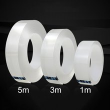 1/5M Double Sided Tape Nano Transparent No Trace Acrylic Magic Tape Reuse Waterproof 3m Adhesive Tape Cleanable Home Improvement(China)