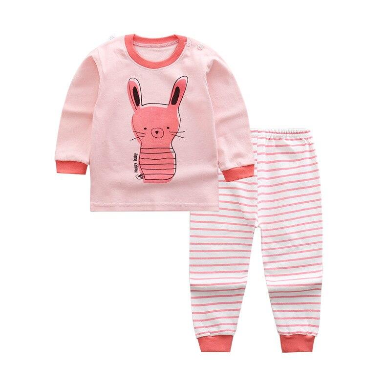 Autumn toddler girls cartoon pajamas for children's girls boys long sleeve 2pcs pyjamas sets toddler baby girl clothes kids sleepwear