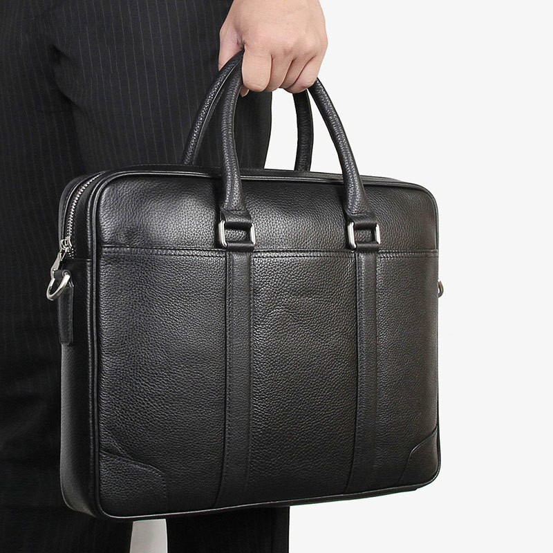Men Business Bag Briefcase Men Leather Office Bags Genuine Leather Leather Laptop Men Maletines Hombre