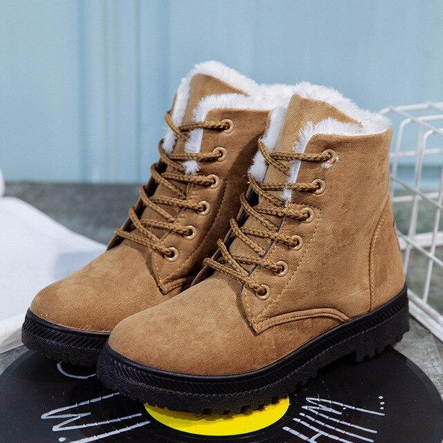 Par de Botas de Mujer 2019 zapatos de invierno Mujer hombre Botas grandes de felpa dentro de Botas Mujer Botas australianas impermeables Botas
