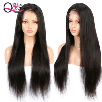 Brazilian Lace Frontal Wig Pre Plucked With Baby Hair 150% Density Silky Straight Swiss Lace Remy Hair Human Hair Wig