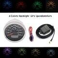 85 мм спидометры GPS 0-200MPH 300 км/ч lcd скорость одометры скорость mileometer Trip Gauge Cog 8 цветов подсветка