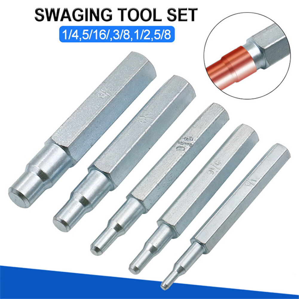 5pcs CT-193 Copper Pipe Tube Expander Swaging Punch Tool Imperial Swaging Punch Tool