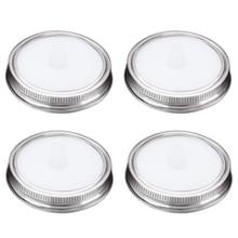 4 шт., безводная белая Пищевая силиконовая ферментация, Воздушные Замки, крышки для брожения, набор лент для широких баночек, герметичная герметичность