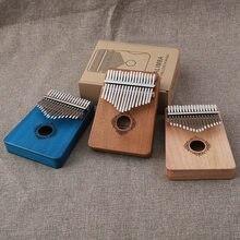 SevenAngel 17 teclas Piano de pulgar Kalimba de alta calidad de madera de caoba instrumentos musicales con libro de aprendizaje Kalimba Piano
