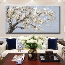 % 100% HandPainted 3D bıçak boyama tuval üzerine soyut çiçek yağlıboya sanat duvar süsleme resimleri için oturma odası ev dekor