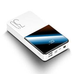 Bateria externa portátil do banco de potência de 30000 mah com carregador portátil do powerbank do carregamento rápido bidirecional do qc para o telefone