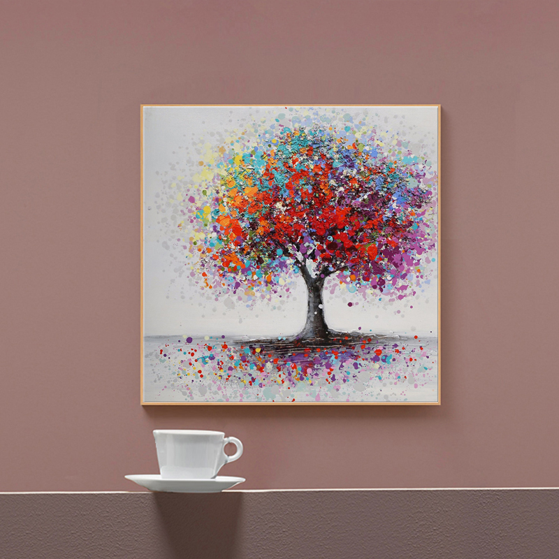 Abstract Trees Landscape Canvas Paintings Print On Canvas Colorful Pop Art Canvas Prints Wall Pictures For Living Room Cuadros Big Deal 48cf1c Cicig