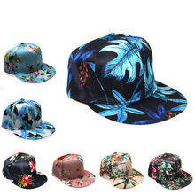 3D Printed Leaf Pattern Baseball Cap Fashion Tie-dyed Adjust