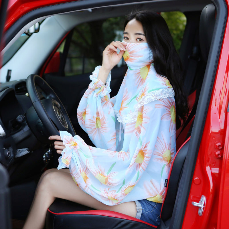 livre máscara de pára-sol fino xale cachecol conjunto de duas peças