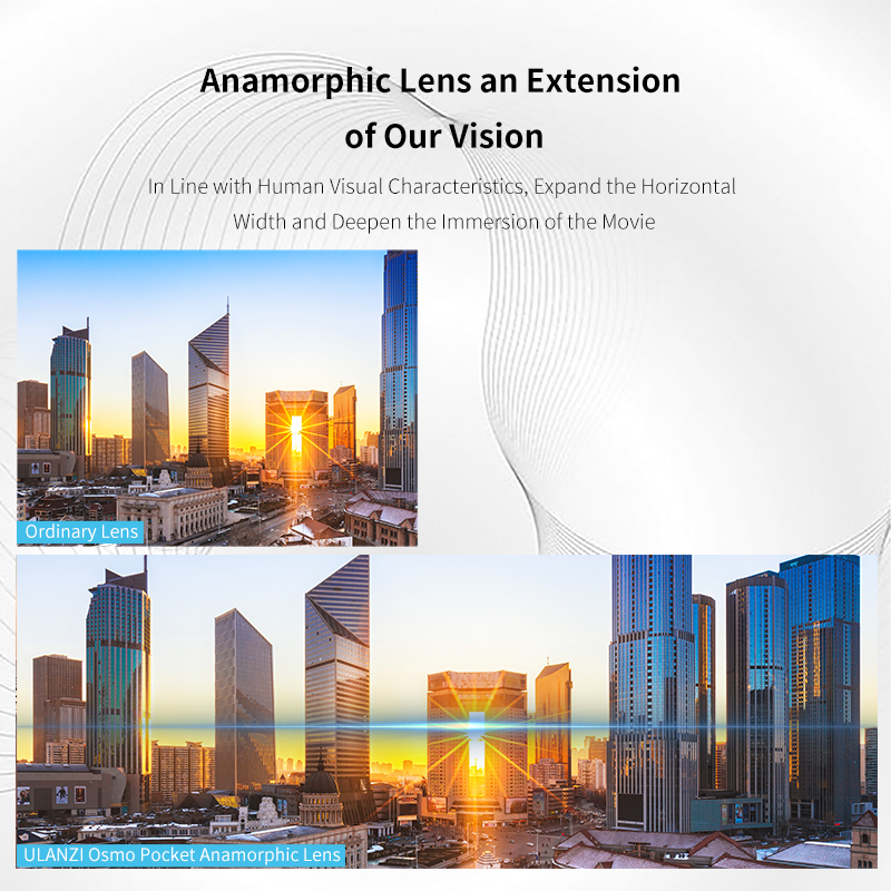 Image 2 - Ulanzi OP 11 1.33X Anamorphic Lens Wide Angle Lens Kit for Osmo Pocket Filmmaking Video Shooting Osmo Pocket Camera LensSports Camcorder Cases   -