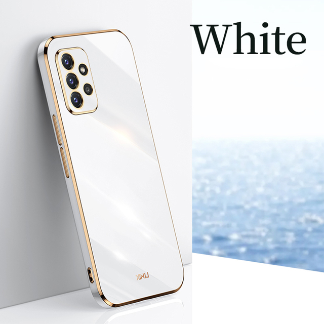 Luksusowe poszycie lustro etui na telefony do Samsung Galaxy A52 A72 A32 4G miękkiego silikonu etui do Samsung A82 A22 5G kamera pełna pokrywa tanie i dobre opinie EKDME CN (pochodzenie) Częściowo przysłonięte etui Ultra-thin Silicone Magnetic Case For samsung galaxy a52 a72 Coque