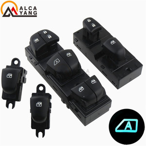 Image 5 - 1 Set/4Pcs Rood/Wit/Ijsblauw Licht Voor Nissan Qashqai/Altima/Sylphy/tiida/X Trail Schakelaar Ruitbediening/Single Window Switch