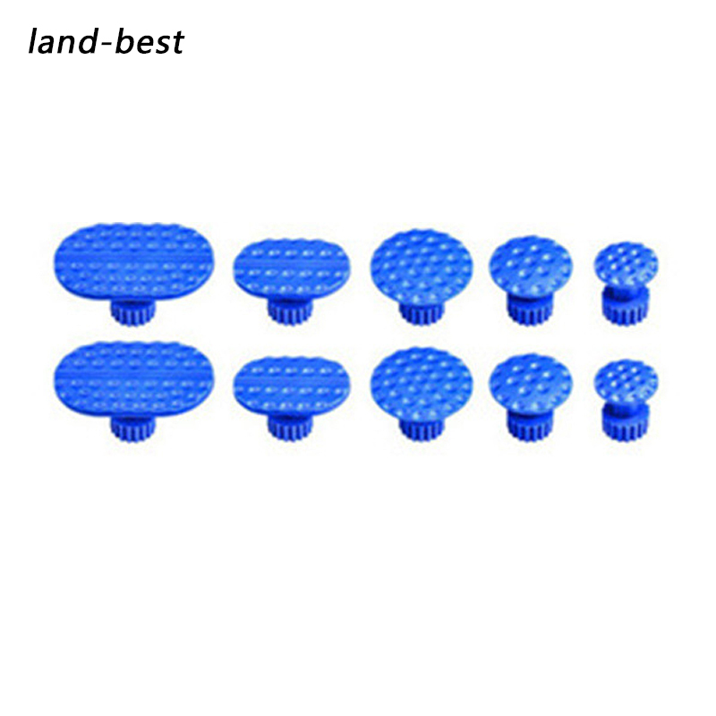 PDR Tools 10pcs Blue Car Paintless Dent Repair Suction Cups Slices PDR DIY Hand Tools Kit Use For Remove Hail Pits Sets