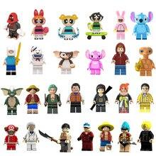 Ститч и Эллиот Энджи Гизмо оставайтесь пуфт Финн в полоску строительные блоки игрушки для детей подарок Gremlins совместимы с legoedly