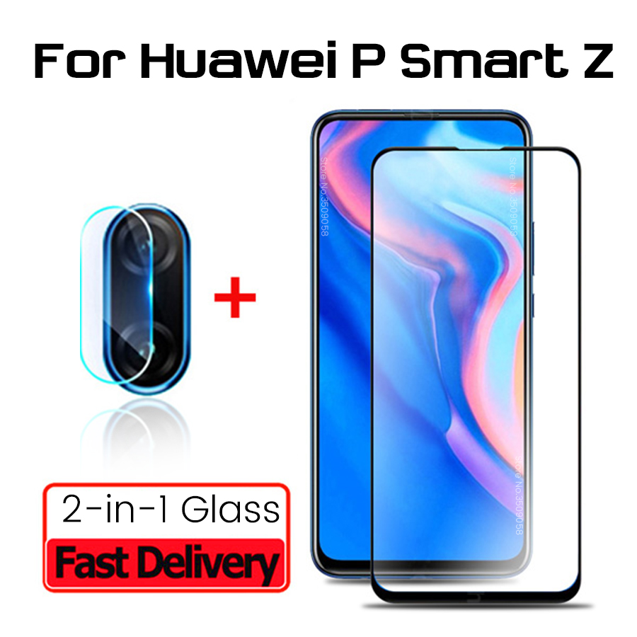 2-in-1 Camera Protective Glass For Huawei P Smart Z 2019 Screenprotector Glasses For Huawei P Smartz Psmartz 6.59'' Lens Film 9h