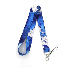 World map vintage Neck Strap Lanyards ID badge card holder keychain Mobile Phone Gift
