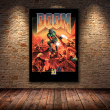 Wall Art Painting-Pictures Game-Poster Video-Games Halo Canvas Prints Doom Home-Decor