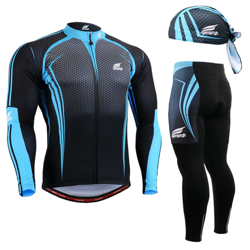 2020 cycling clothes china Fresh Cycling Jersey Set Hat for men Autumn spring Breathable Ropa Ciclismo Bike Clothing