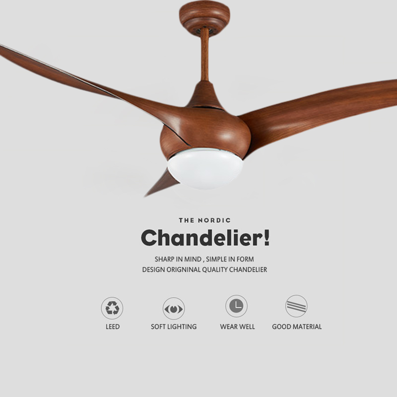 New Design Simple Brown Fans Lamp Fancy Decorative Lights Living Room Ceiling Fan With Led Light Bedroom Fan Light Fixture Ceiling Fans Aliexpress