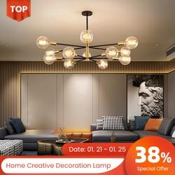 New Chandelier 220 Ceiling Vintage Lamp Home Decoration For Bedroom Christmas LED Decor Light in Living Room LED Modern Lamp